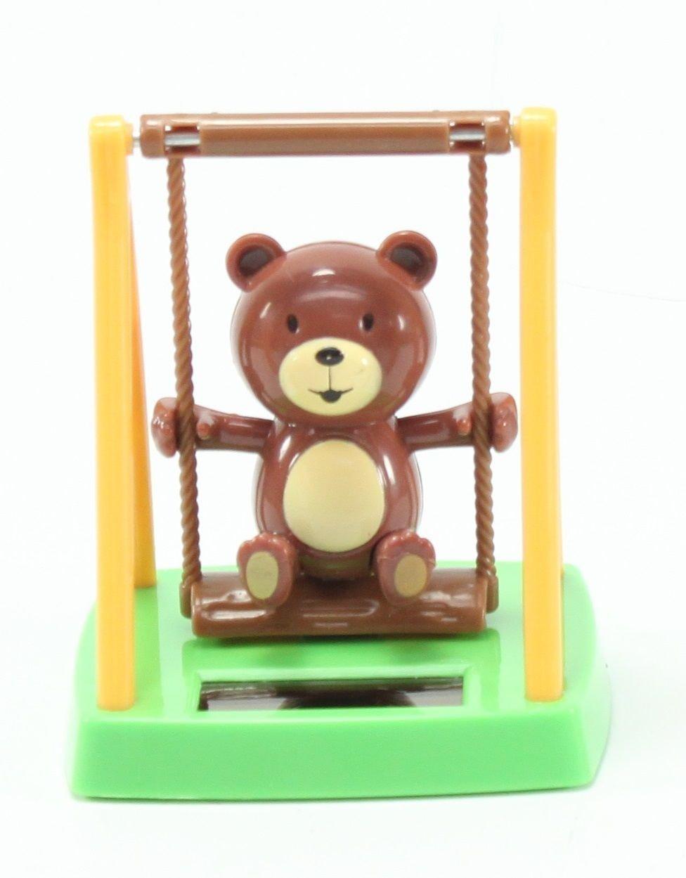 amazon com swinging brown monkey u0026 swing bear solar toys patio
