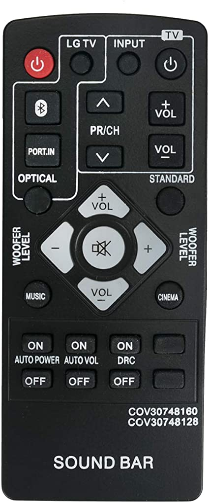 Remote Control Replace For LG COV30748128 NB2540 NB2540A S24A1-W S24A1W Soundbar