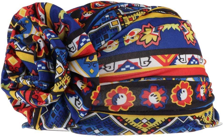 dailymall Gorro Mujer de Algodón para Quimio y Oncológicos Gorro de Dormir Sombrero Turbante Musulmán Africano Floral - Azul Real: Amazon.es: Juguetes y juegos