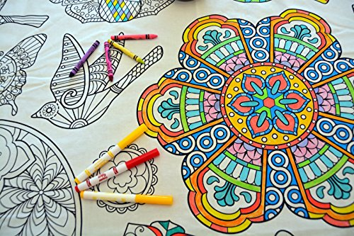 The Coloring Table - Colorable Mandala Set of 4 Placemats