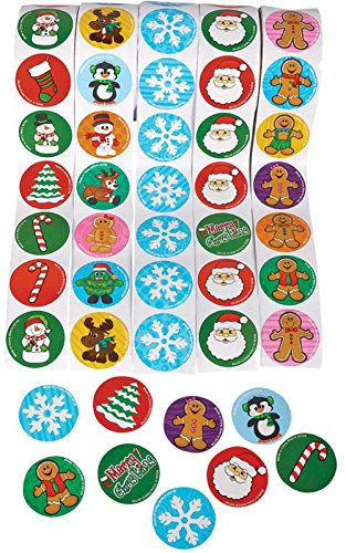 Holiday Roll Sticker Assortment (500 Stickers) Christmas Stickers