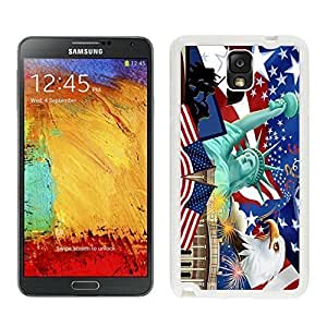 American the Statue of Liberty Samsung Galaxy Note 3 TPU Case USA Flag Soft Silcon White Cover Mobile Phone Accessories