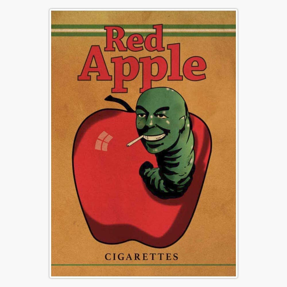 EMC Graphics Red Apple Cigarettes - Quentin Tarantino Fictional Cigarette Brand Sticker Decal Vinyl Bumper Sticker Decal Waterproof 5