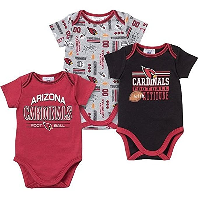 buy popular 7b5c5 9aafe Amazon.com: Gerber Baby Boys Arizona Cardinals Short Sleeve ...