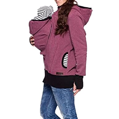0aa33e899c3 Aiffer Women's Kangaroo Sweatshirt Hoodie Maternity Winter Baby Warm  Carrier Pregnant Women Thick Wool Baby Holder