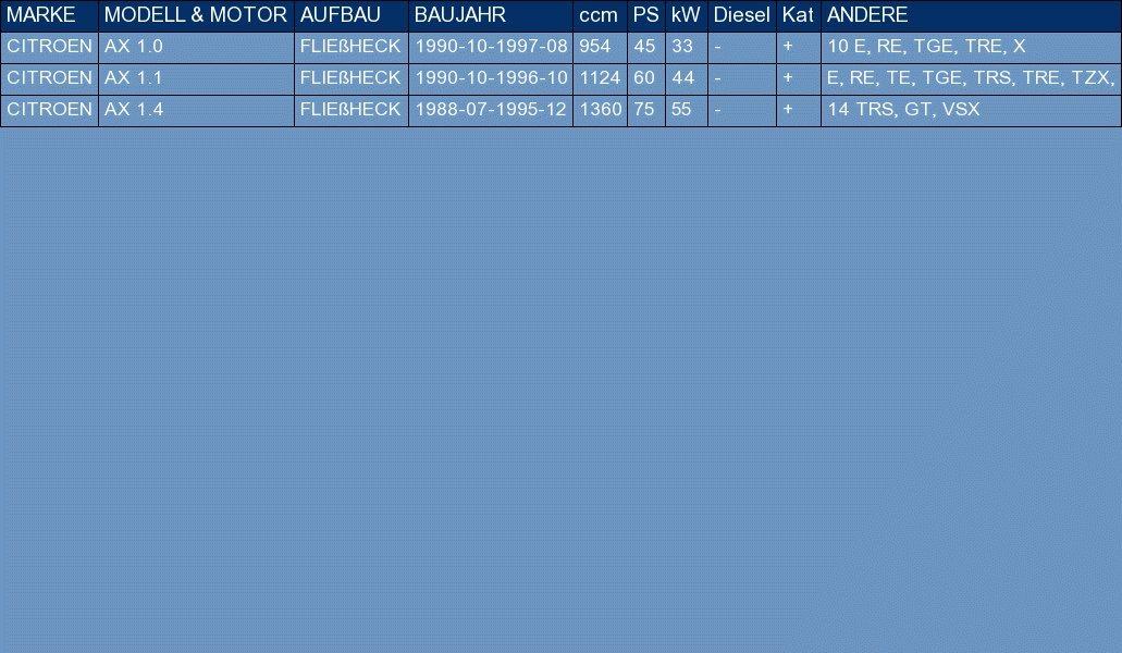 ETS-EXHAUST 5393 Auspuff Auspuffanlage f/ür AX 1.0 1.1 1.4 FLIE/ßHECK 45//60//75hp 1988-1997