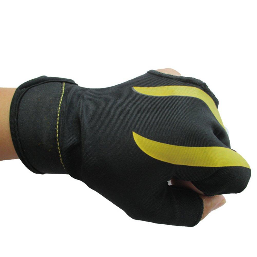 HIMM resistente al desgaste Guantes de 3dedos para billar deporte la primera opción de billar players (el desgaste de la mano izquierda 1pcs), azul