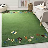 Safavieh Safavieh Kids Collection SFK751A Handmade Green and Multi Cotton Area Rug (6' x 9')