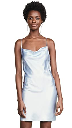 f3a9a6b805f5 Fleur du Mal Women's Cowl Neck Mini Slip Dress at Amazon Women's Clothing  store: