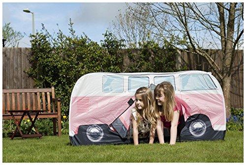 VW Volkswagen T1 C&er Van Kids Pop-Up Play Tent u2013 Pink & VW Volkswagen T1 Camper Van Kids Pop-Up Play Tent - Pink - Camping ...