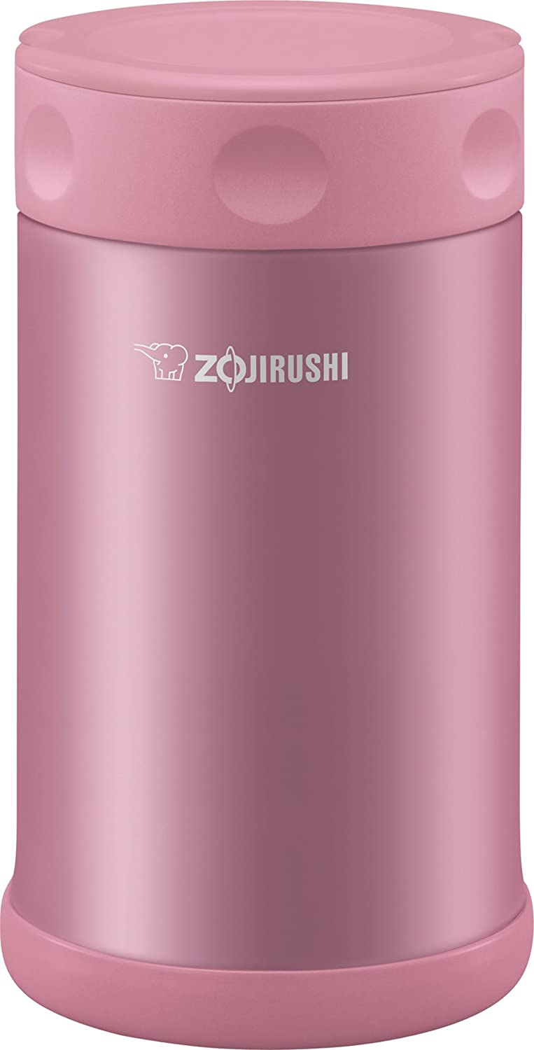 Zojirushi Stainless Steel Food Jar 25 oz. / 0.75 Liter, Shiny Pink