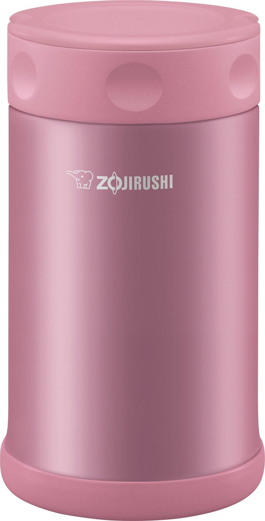 Zojirushi Stainless Steel Food Jar 25 oz./0.75 Liter, Shiny Pink