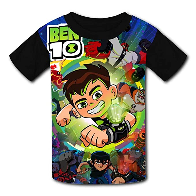 Ben-10 All Aliens Kids T-Shirts Short Sleeve Tees Summer Tops for Youth//Boys//Girls