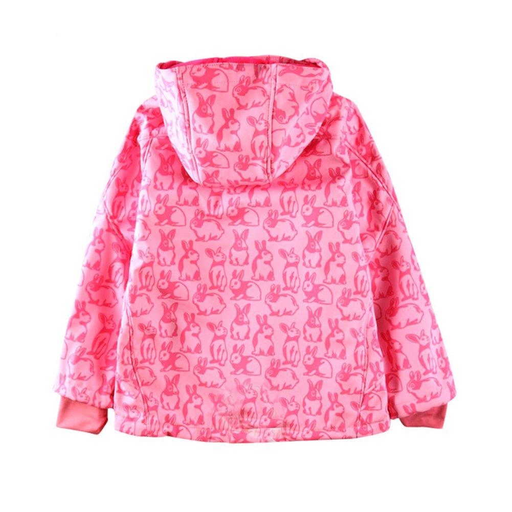Tortor 1Bacha Kid Girls Rabbit Print Snowsuit Ski Hooded Jacket Snow Pants Set