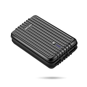 Zendure A3 Batería Externa pequeña 10000mAh Power Bank, Tech Advisor 2014-2017, Cargador portátil con 2 Puertos USB para iPhone, iPad, Samsung, ...