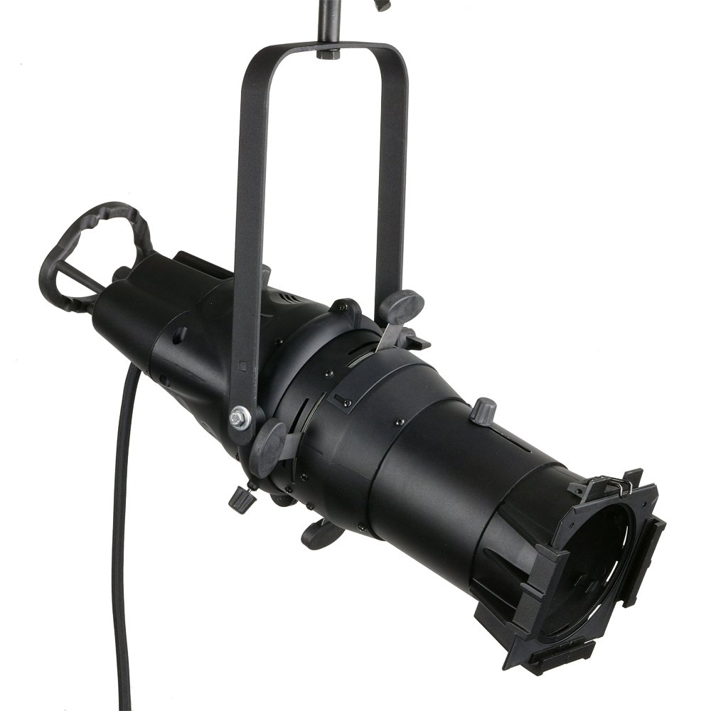 Leviton LEL15-B Ellipsoidal Spotlight 15-Degree Beam Angle LEO Enhanced Performance Fixture with C-Clamp, Color Frame, Black