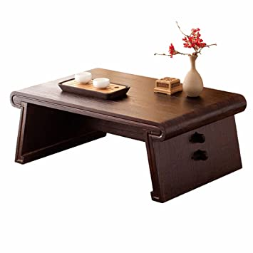 Table basse en bois massif table basse rectangulaire japonaise table ...