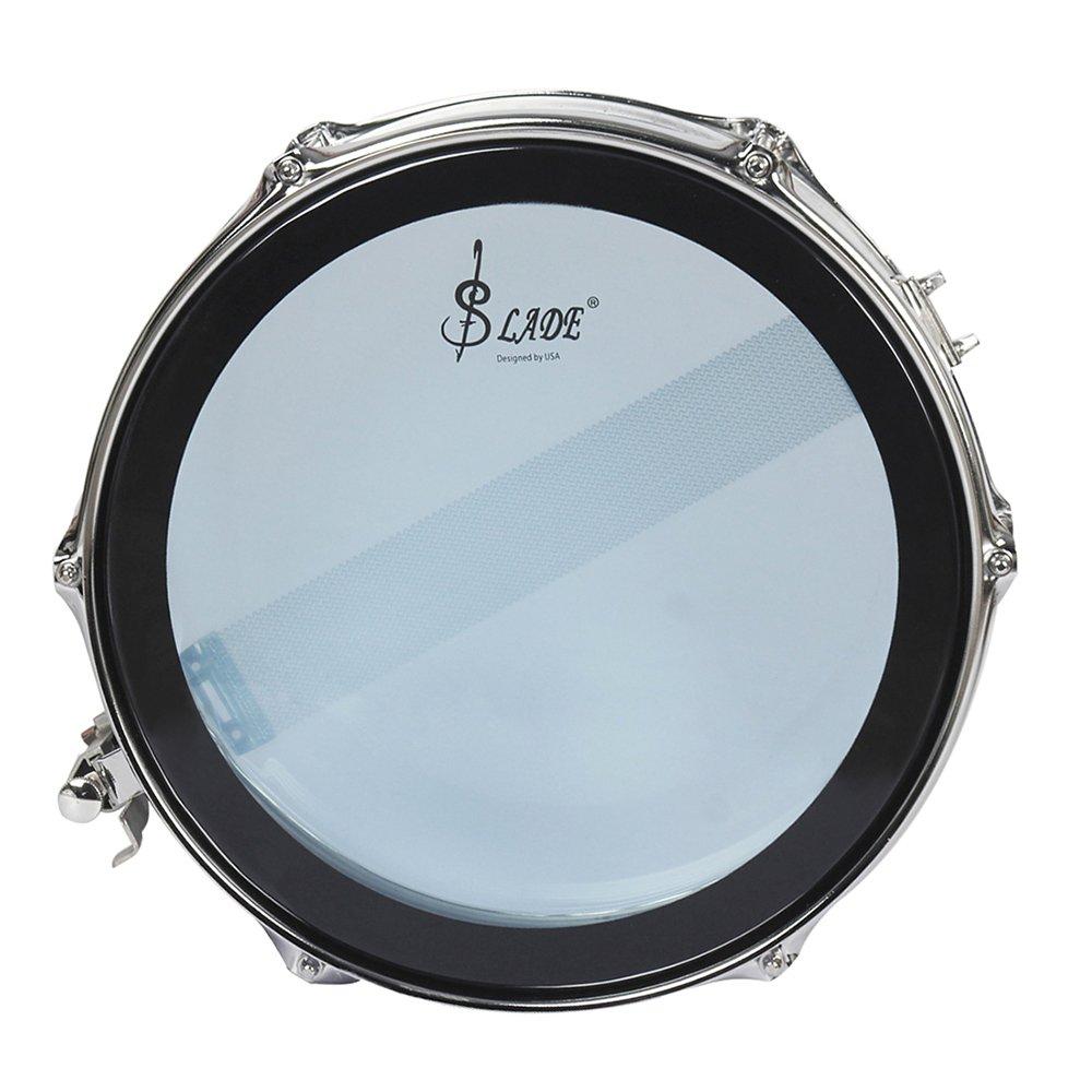 Walmeck Snare Drum Head Kit Stainless Steel Drum Body PVC Drum Head with Drum Bag Strap Drumsticks Drumstick Bag Drum Damper Gel Pads by Walmeck (Image #8)