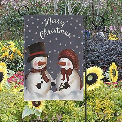 Bennigiry - Bandera Decorativa de Doble Cara para jardín, diseño de muñeco de Nieve con Texto en inglés Love Merry Christmas, 30, 5 x 45, 7 cm, 28x40(in): Amazon.es: Jardín