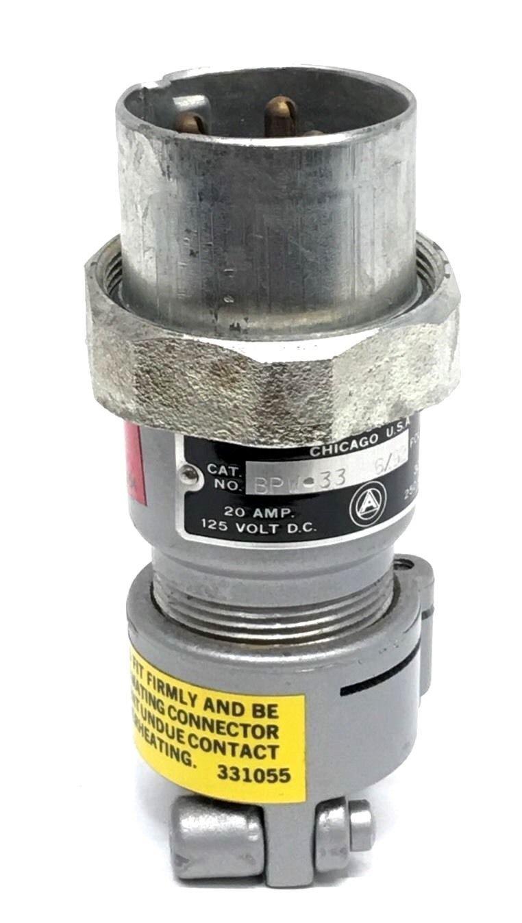 APPLETON BPW33 30-Amp/250V 20-AMP/125V Aluminum 3-Pole Plug