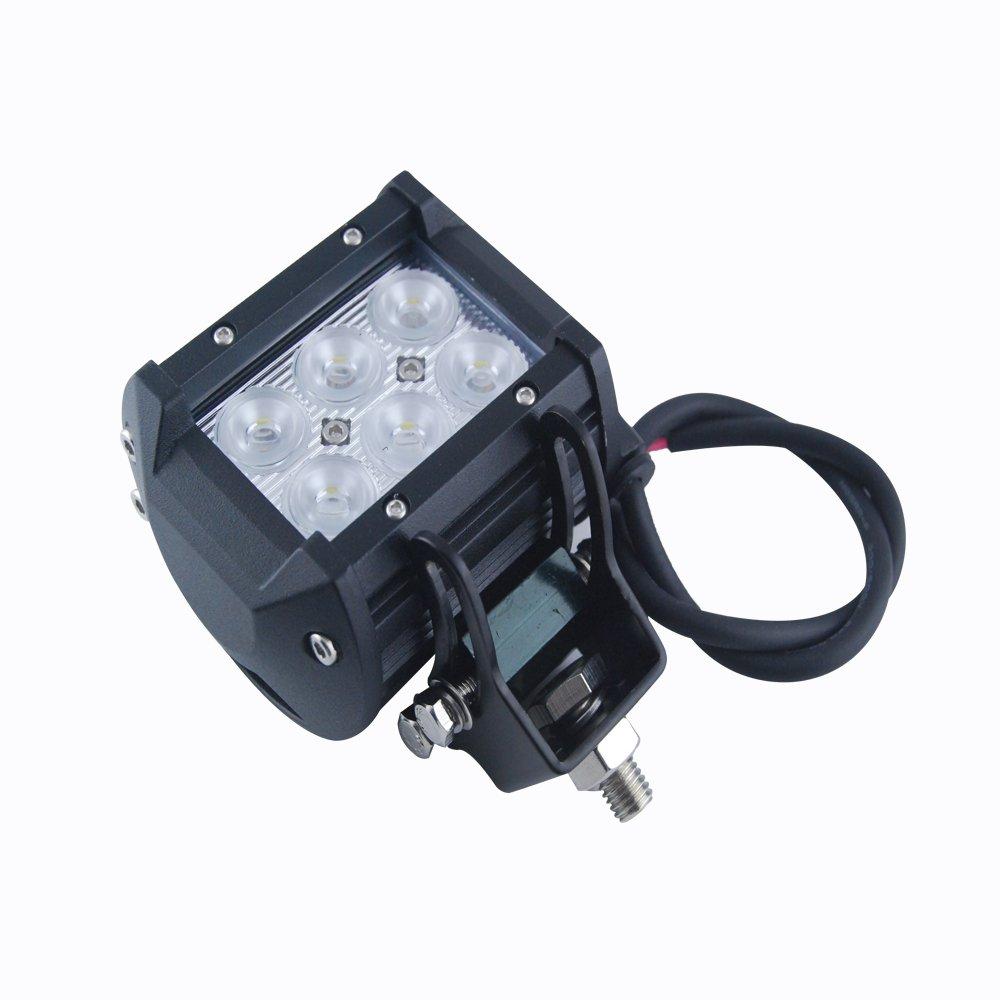 Excellent 18W Square Shape IP 68 6000K LED Work Light Flood Beam Spot Lamp Spotlighting