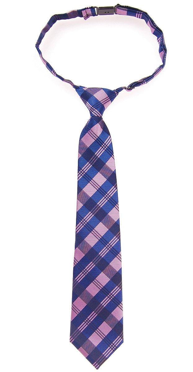 Various Colors Tartan Plaid Patterns Woven Microfiber Pre-tied Boys Tie