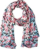 Kate Spade New York Women's Tapestry Silk Oblong Scarf Parisian Pink One Size