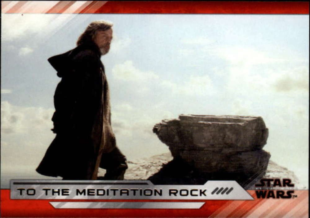 2018 Topps Star Wars The Last Jedi Series 2#39 To the Meditation Rock Movie Collectible Trading Card