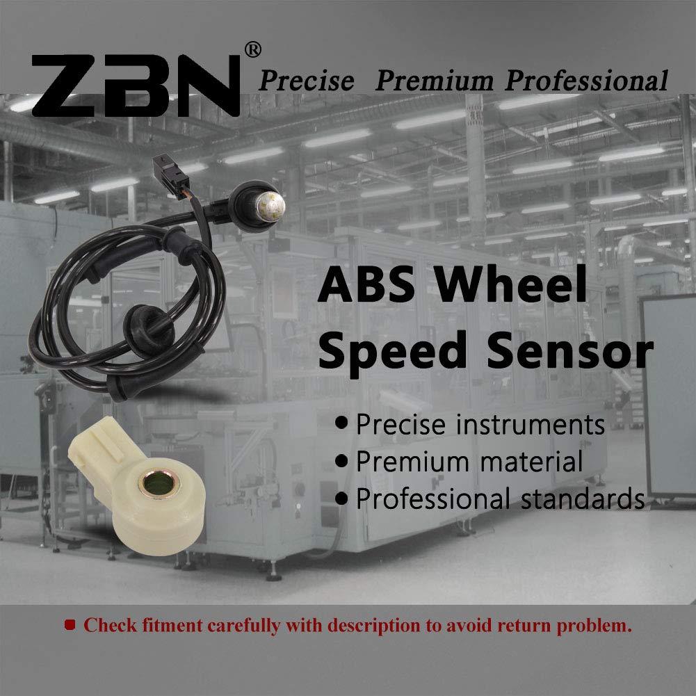 AUTEX 2PCS ABS Wheel Speed Sensor Rear Left /& Right ALS538 compatible with 2002-2003 Audi A4 A4 Quattro 1.8l 3.0l w//o Self Leveling Headlights 2002 Audi S4 2.7l w//o Self Leveling Headlights
