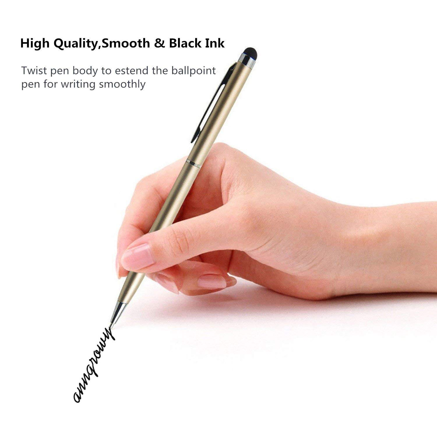 20pcs Stylus Pen Stylus Pens for Touch Screens Universal 2 in 1 Capacitive Stylus Ballpoint Pen Stylus for iPad Tablet Kindle Samsung Galaxy Phones