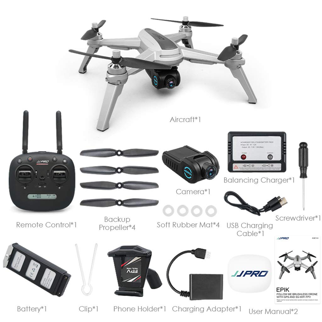 WANG XIN Remote Control Aircraft with GPS WiFi 1080P Drone Quadcopter by WANG XIN (Image #7)