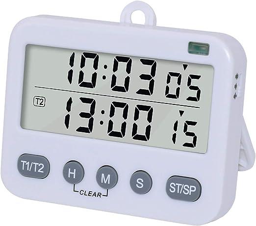 Compra Temporizadores Cocina Digital Duales Reloj Despertador ...