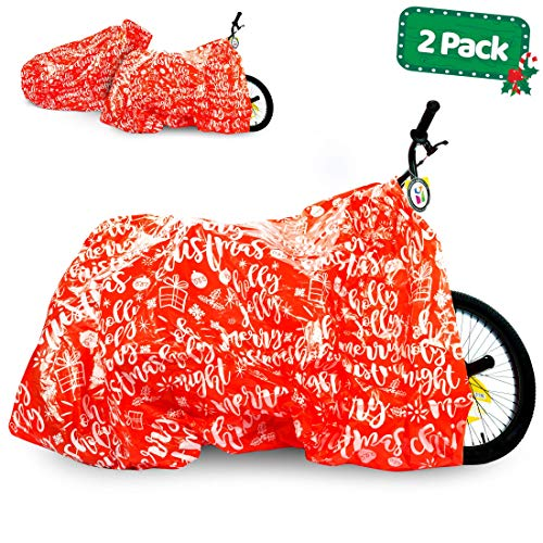 Giant Gift Bags (Bike Gift Bag - 2 Pack - Christmas Giant Gift Bags for Huge Gifts - 72