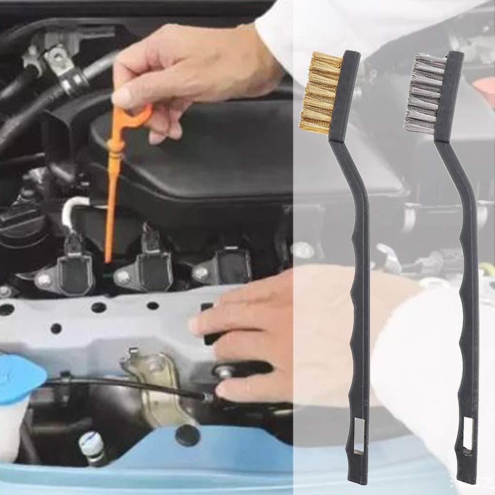 Chowceng Herramienta Escobilla de Limpieza de eliminaci/ón de 3pcs Mini Rust Cepillos industriales de Alambre de Metal de Scratch