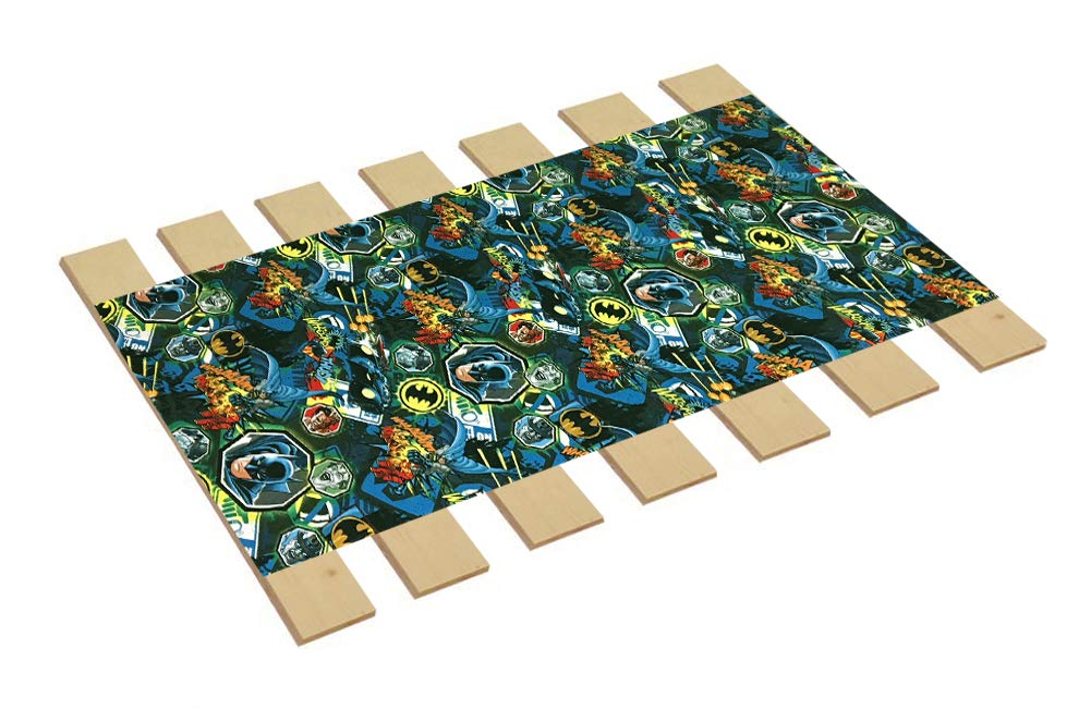 Custom Made in The U.S.A.! Youth/Toddler Size Batman Whaam Comic Book Hero Themed Bed Slats Bunky Boards - Cut to The Width of Your Choice (27'' Wide) - Free Box of Crayons with Purchase