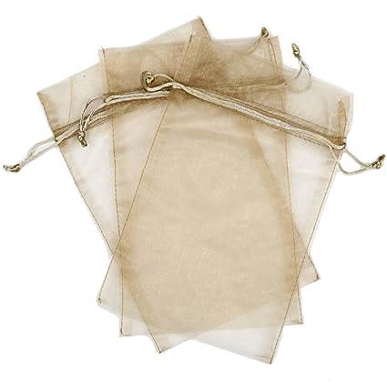 Amazon.com: 30 Diseñador Tela de organza bolsas de regalo y ...