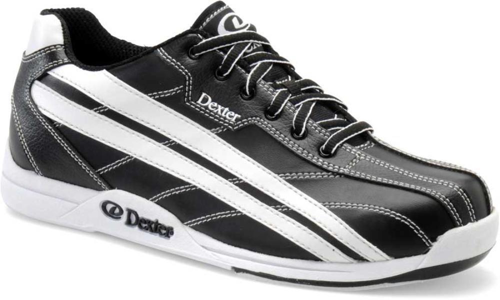 Dexter Jack Wide Width Bowling Shoes, Black/White, 7 DX22511W 070