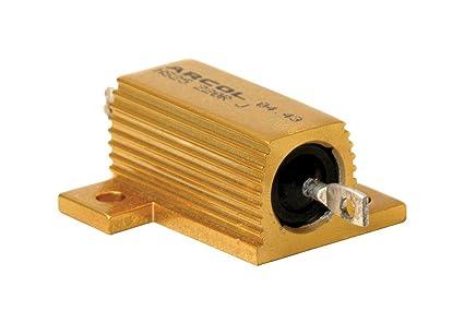 0,1 ohm resistenza con radiatore HS25-0R1J 0R1 Arcol HS 25W