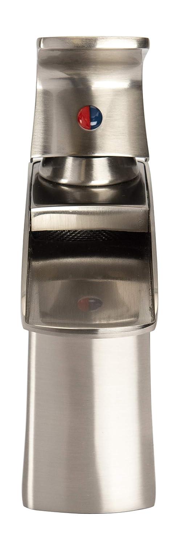Modern /& Sleek Easy Installation Single Handle Waterfall Bathroom Water Faucet by Beelee Solid Brass Body Brushed Nickel Deck Mounted