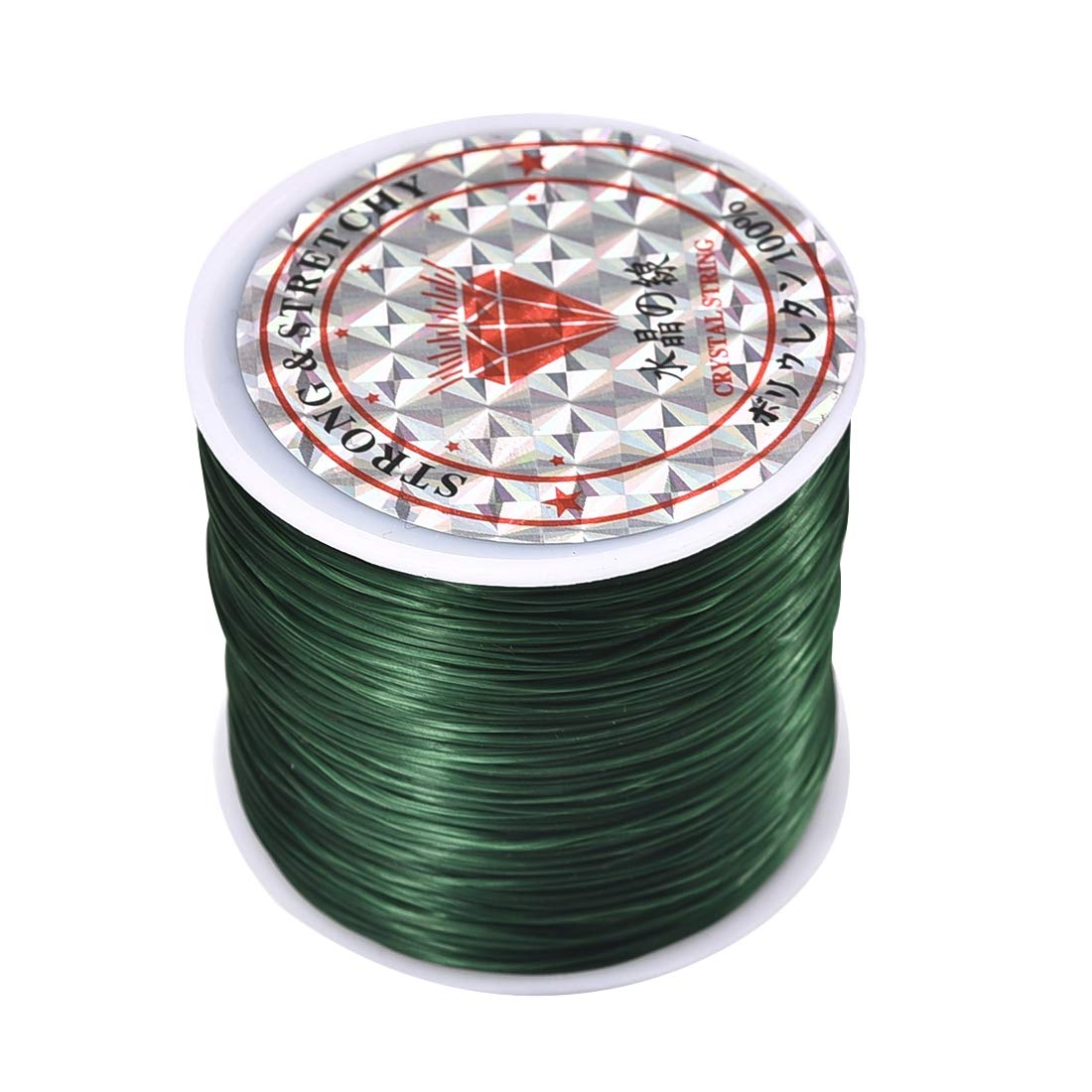 1.0mm approx 10m A roll of clear white elastic cord// wire 0.8mm