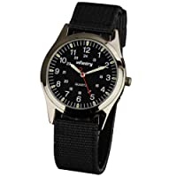 Infantry Mens Analogue Quartz Wrist Watch Night Vision Military Sport Nylon Strap
