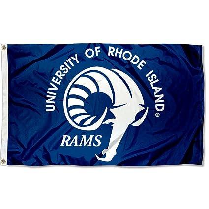 new style 5fd54 452e3 Rhode Island Rams URI University Large College Flag