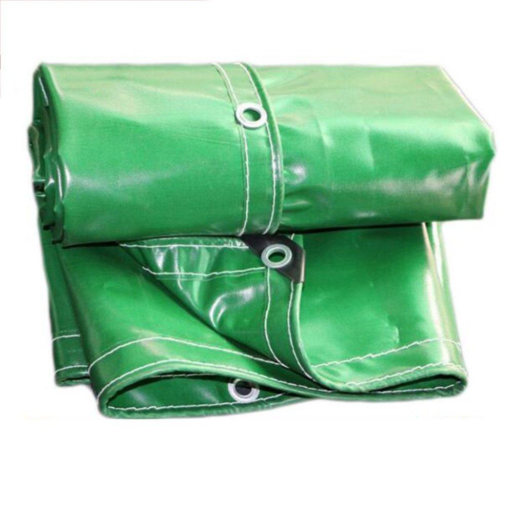 テントの防水シート 厚手の防水キャンバス ターポリン 雨布 日焼け止め シェード Pvcオイルクロス テント カーターポリン 600g/㎡、(厚さ0.5MM)、14サイズオプション それは広く使用されています (サイズ さいず : Green-6*8m) B07DNN797Q Green-6*8m  Green-6*8m