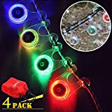 4Pack Outdoor Camping Bike Lights - Comfkey Hanging LED Bike Warning Light Bicycle Lamp Flashlight With Button Cell Led Camping Flashing Lights Party Birthday Decorations Color Mixed