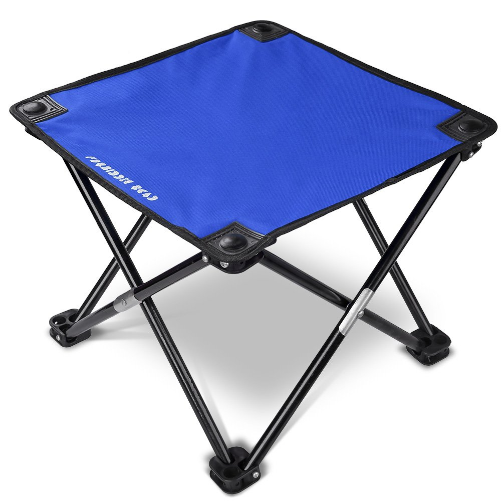 Forbidden Road Camping Stool Folding Chairs Outdoor Fold Up Chairs Four Legs Portable Collapsible Chair for Hiking Fishing Travelling Outdoor Stool Lightweight Sturdy Chair(Red//Blue//Green//Black)