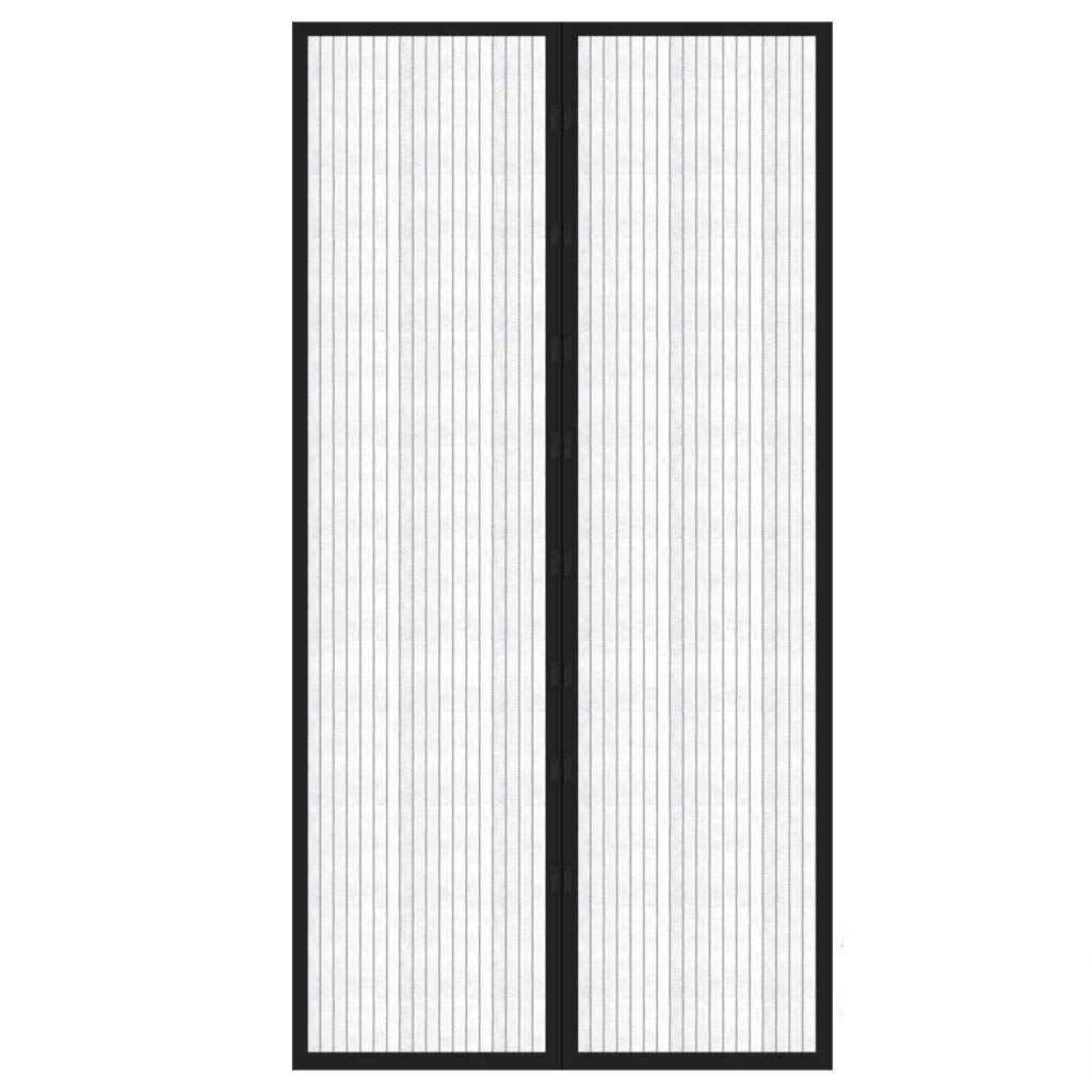 Magnetic Fly Screen Door Curtain Keep Insects Out Mosquito Door Mesh Fits Door up to 34 x 82inch Max (Black) TK