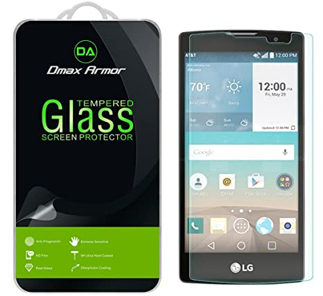LG Escape 2 Glass Screen Protector, Dmax Armor [Tempered Glass] 0.3mm 9H