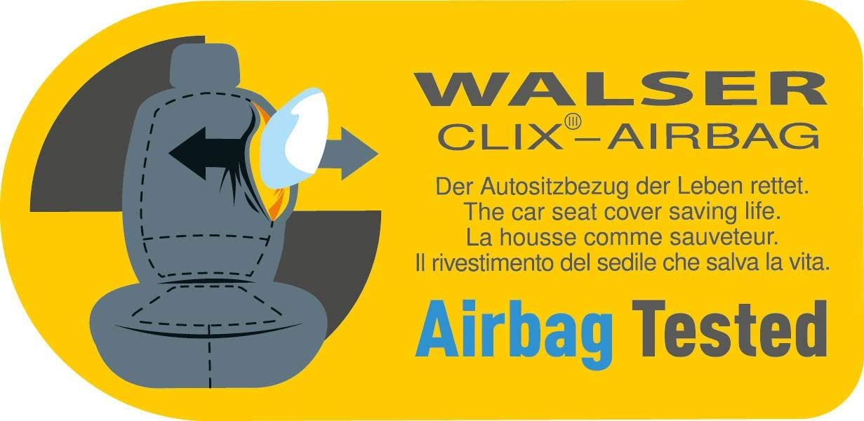 Black Real Leather T/ÜV Germany-tested with General Type Approval Walser 19678 Ranger Car Seat Cover