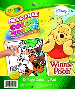 Crayola color wonder winnie the pooh coloring for Crayola color wonder 30 page refill paper