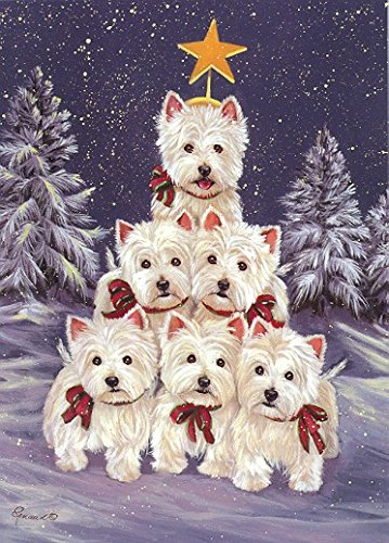 West Highland Terrier Westie Family Tree -Large House Flag